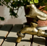 Brass Garden Faucet with Dog Handle