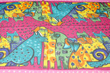 Modern Art Cat & Dog Print Scarf - 7 Colors Available