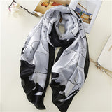Large Cat Pattern Silk Scarf - Available in Navy or Black