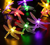 Outdoor Solar Dragonfly String Lights - Available in four styles