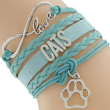Women's cat bangle teal fashion bracelet, Women's teal Love your Cat fashion bracelet, Women's Cat bracelet