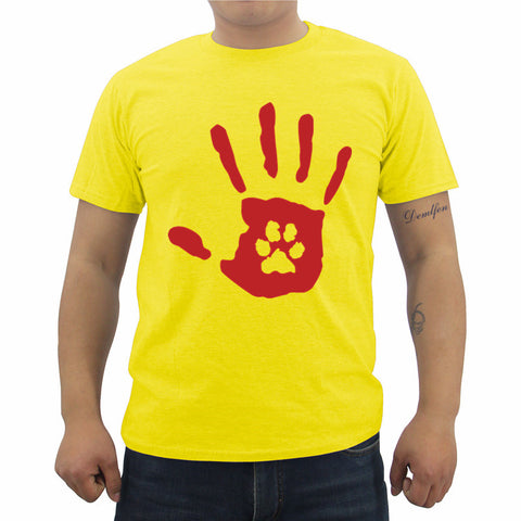 "Paw-in-Hand Rescue T-shirt ""$5 from every sale is donated to the Humane Society"""
