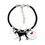 """Love Your Dog"" Charm Bracelets - Choose from 19 Breeds"