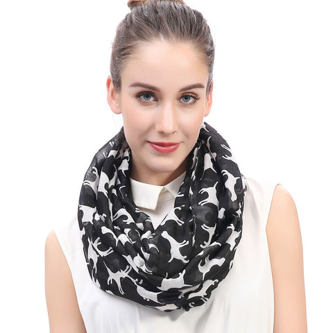 Labrador Print Infinity Loop Scarf - Available in 7 colors