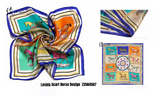 Pure Silk Contemporary Design Neck Scarf - 11 Colors Available