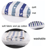 Luxurious Blue Striped 3-Piece Pet Bed