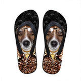 Men's flip flops. beach shoes, beach flip flops, Beagle flip flop.