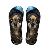 Men's flip flops. beach shoes, beach flip flops, Pug flip flop.