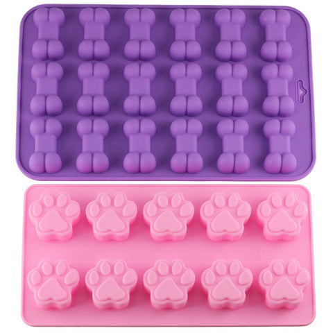 Paw & Bone Shape Silicone Treat Molds, Paw Silicone Mold, Bone Silicone Mild