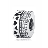 Hearts & Crystals Eternity Sterling Silver Bead Spacer