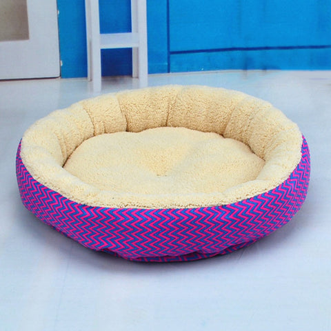 Khaki Dog bed, Khaki Cat bed, Khaki plush round shaped cat or dog bed