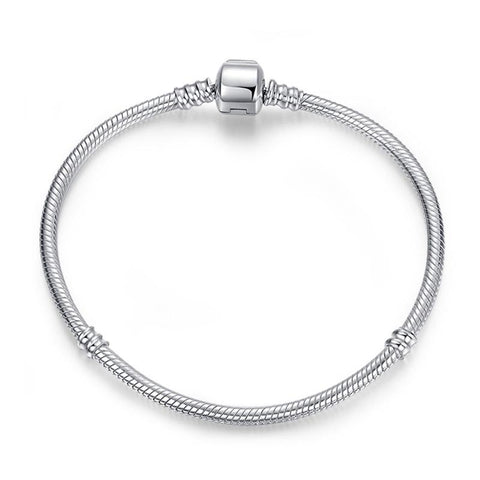 Simple Elegance Sterling Silver Snake Chain Bracelet Collection