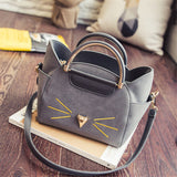 Whiskers Shoulder & Handbag - Available in Black, Gray, Pink & Rose