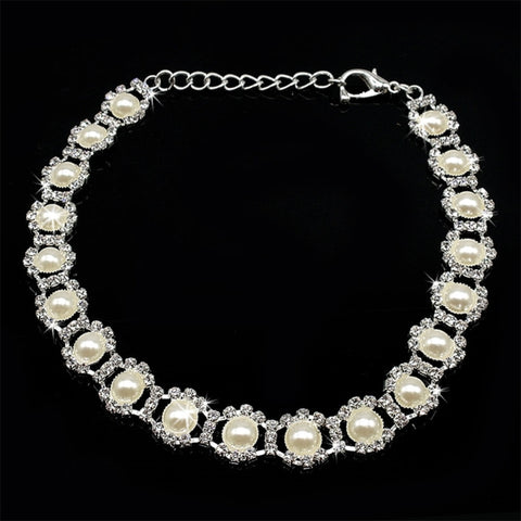 Pearl & Rhinestone Party Necklace