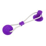 Purple Pull-it and Play, Dog pull toy, rubber pull toy, suction cup pull toy, Dog toys, PetShopLane.com