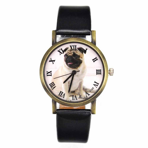 Bulldog Watch with Fashion Band