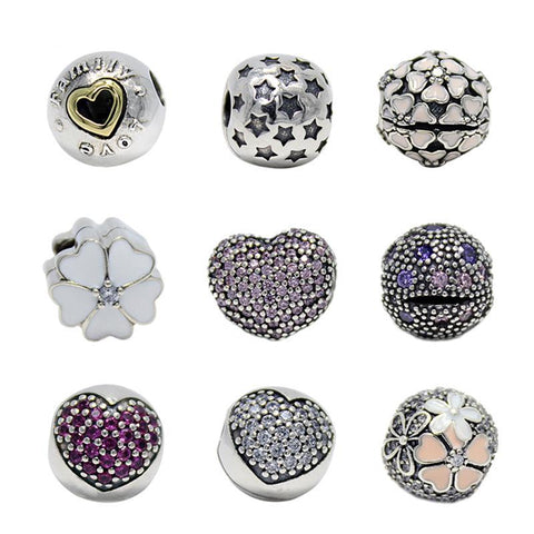 Medley of Sterling Silver Bead Clips