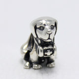 Sterling Silver Saint Bernard Dog Bead Charm