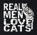 """Real Men Love Cats"" Trendy Graphic T-shirt Sizes  Available in XXS to 4XL"