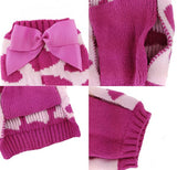 Snowflakes, Stripes & Hearts Pet Sweaters
