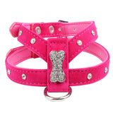 Rhinestone Bone Collar and Harness - Available in 3 Colors