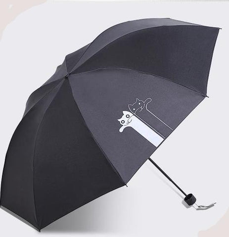Two Cats Collapsible Rain Umbrella