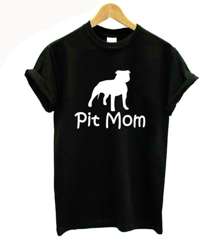 """Pit Mom"" Casual T-shirt - 3 Colors Available"