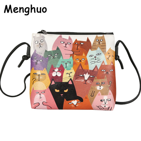 Small Crossbody Purse - Choose from 5 Cat & 1 Rabbit Designs