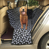 Paw Print Seat Cover Waterproof Back Bench Seat Travel Accessories Car Seat Covers Mat