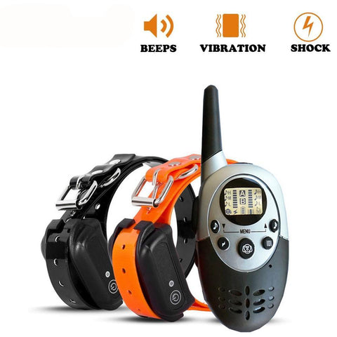 Long-distance Waterproof Rechargeable Anti-Barking Training Collar for 1 or 2 Dogs