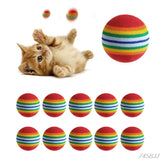 10 Pack of Colorful Toy Balls for Cats