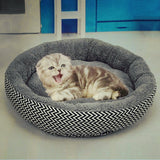 Gray Dog bed, Gray Cat bed, Gray plush round shaped cat or dog bed