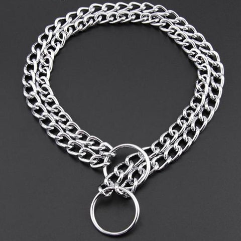 Double Chain Training Collar for Dogs