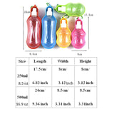 On-The-Go Dispensing Water Bottle For Pets - Choose from 2 Sizes & 3 Colors