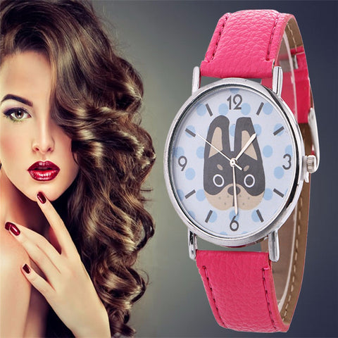 Women's Quartz Dog Watch - 7 Colors Available