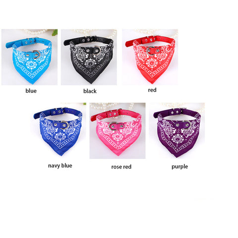 Adjustable Bandana Dog Collar - 5 Sizes & 6 colors Available