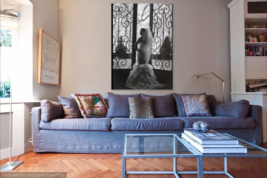 Bridal Portrait Art Prints on Canvas