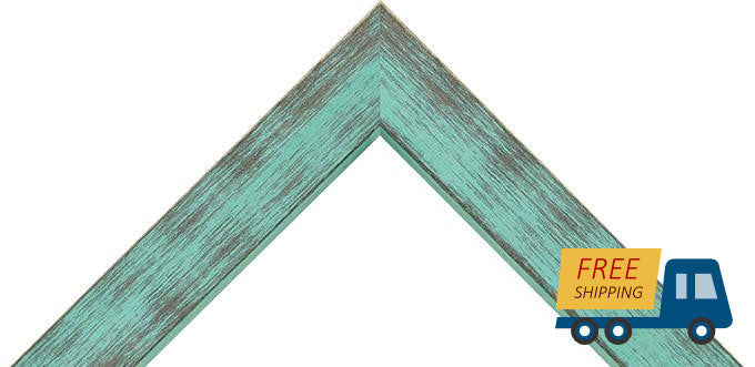 "Turquoise Poplar Picture frame, great for 3/4"" canvas"