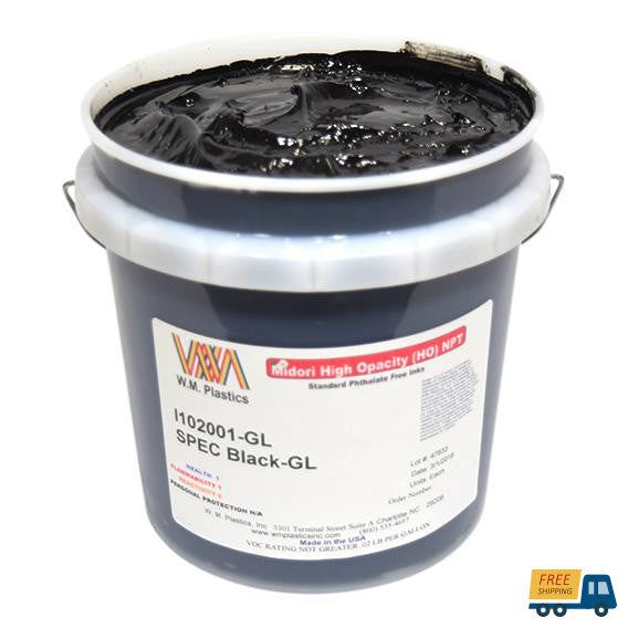 Spec Black- Plastisol Ink, (gallon)