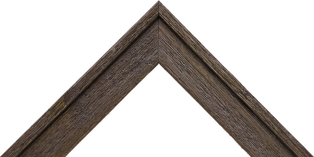 "Rustic Dark Brown Picture Frame 1"" deep profile, great for 3/4"" deep canvas"