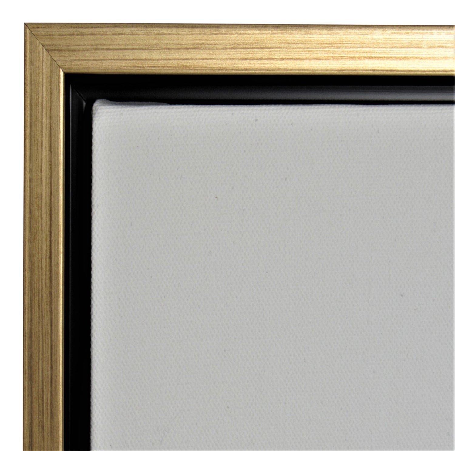 "Gold Floater Picture Frame 1 3/8"" Deep, for 3/4"" Canvas"