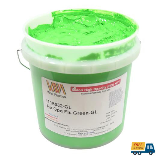 Flourescent Green- Plastisol Ink, (quart)--Sunbelt Mfg. Co.