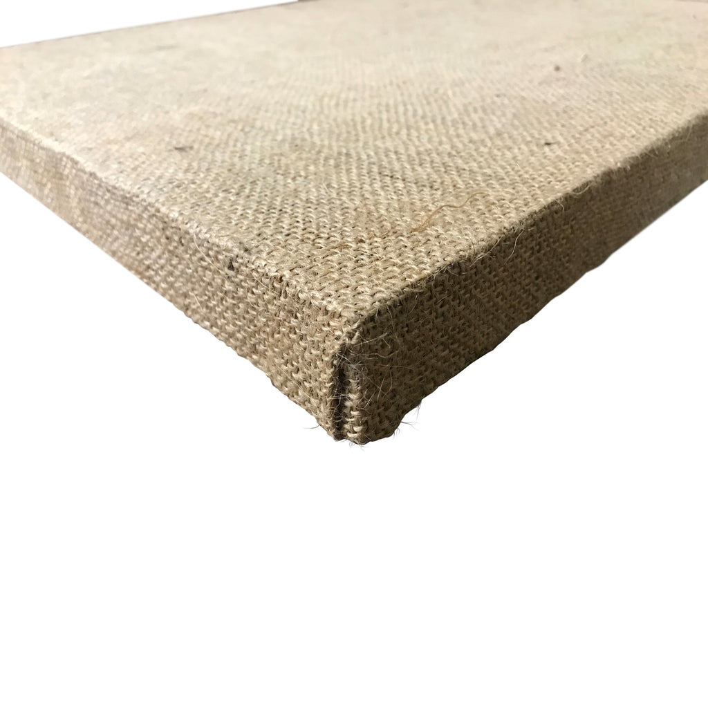 "Stretched Burlap Art Canvas, 1.5"" deep"