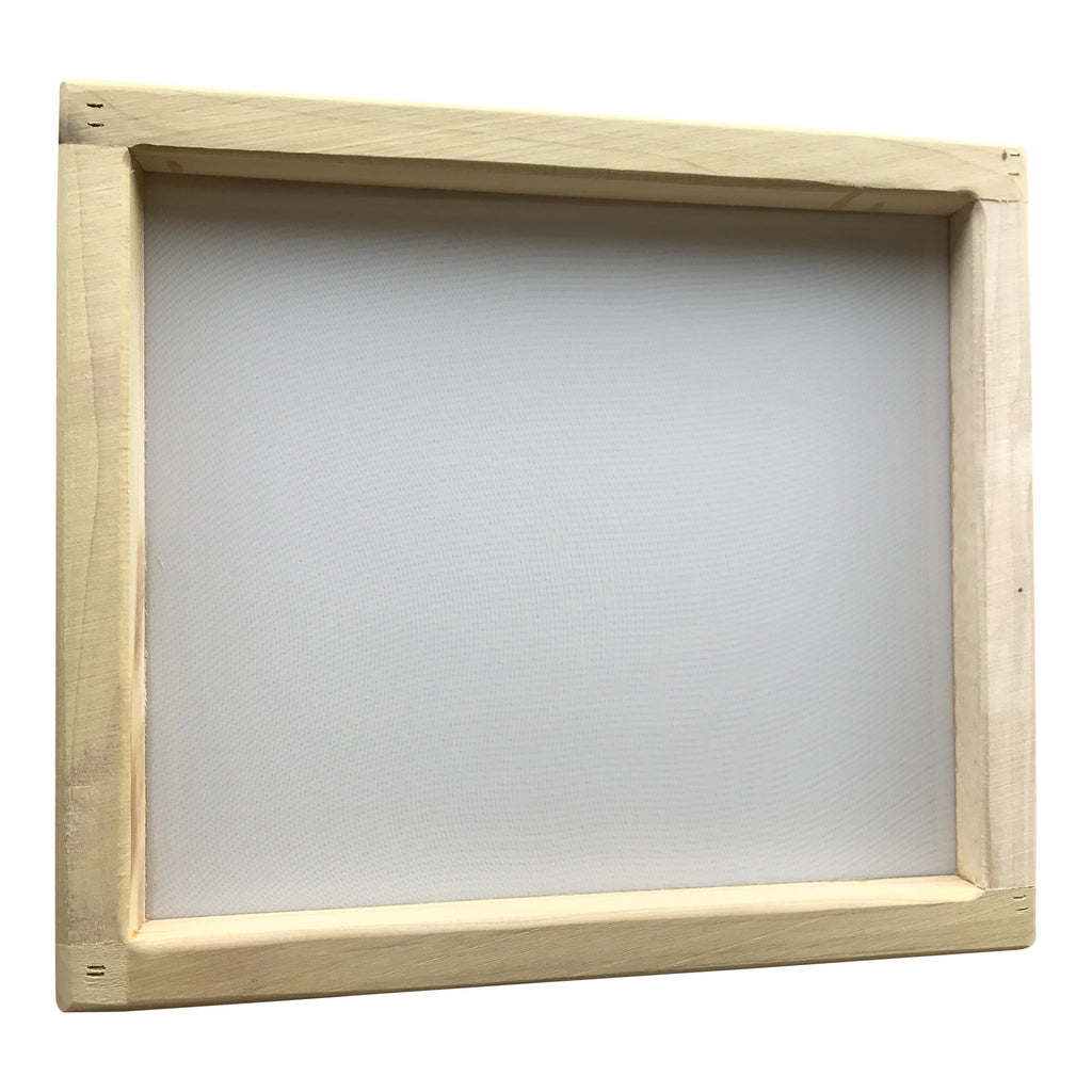 "Sift Screen Frames, Set of 3, 14x16"" Wood Frames with 74, 96 and 230 Mesh"