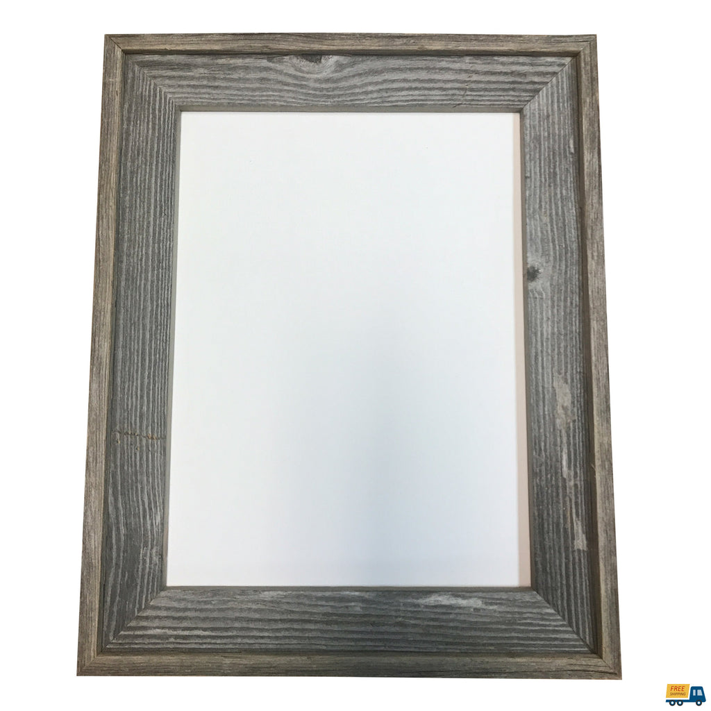 "Genuine Wisconsin Barnwood Picture Frame, great for 3/4"" deep canvas"