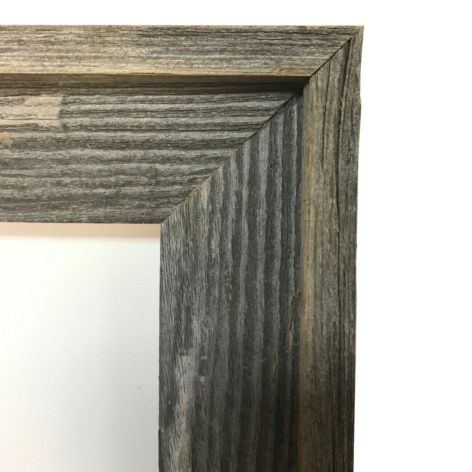 "Genuine Wisconsin Barnwood Picture Frame, great for 3/4"" deep canvas--Sunbelt Mfg. Co."