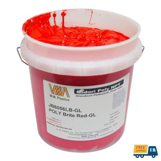 Brite Red- Plastisol Ink, (quart)