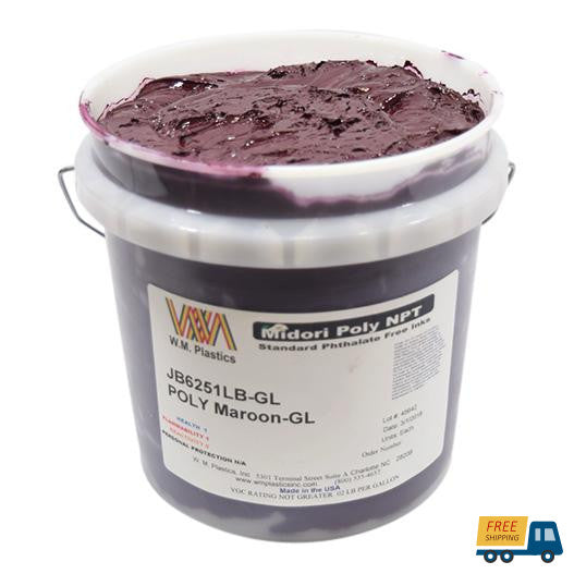 Maroon- Plastisol Ink, (quart)--Sunbelt Mfg. Co.