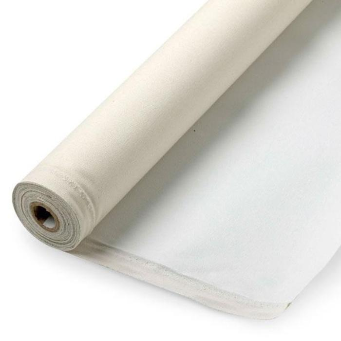 "Rolled Cotton Art Canvas, Primed, 63"" wide. 6, 20, 50 and 100 yard roll."