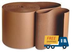 "12 feet x 36"" Single-face Corrugated B Flute Cardboard Roll."